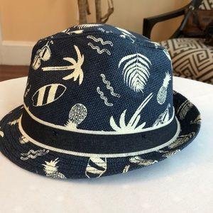 Boys straw, summer, fedora style hat, H&M, NWOT